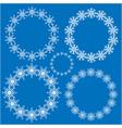 snowflake round frame set vector image