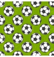 Seamless soccer pattern background vector image