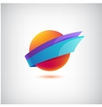 abstract colorful icon logo vector image