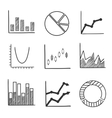Sketch style icons of business charts and graphs vector image