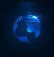 abstract futuristic realistic earth vector image