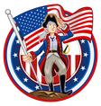 American Patriot Emblem vector image