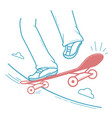 icon skateboarder doing a jumping trick vector image