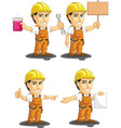Industrial Construction Worker Mascot 12 vector image