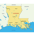 Louisiana - map vector image
