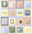 medical flat icons 19 vector image