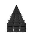 Oil in barrel Many black fuel Arab oil reserves vector image