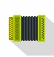 Accordion icon flat style vector image