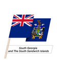 south georgia and south sandwich islands ribbon vector image