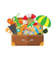 Summer vacation travel flat design concept vector image