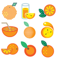logo icons orange vector image