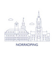 norrkoping vector image vector image