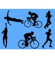 triathlon vs vector image
