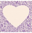 Valentines Day elements in frame heart shape vector image