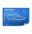 Wireframe with shoe drawing on the vector image