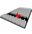 bridge of the puzzle vector image