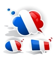 Flag of the France Speech bubble vector image