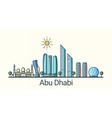Flat line Abu Dhabi banner vector image