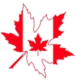 French Happy Canada Day sticker card vector image