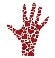 Heart hand vector image
