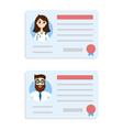 license doctor set vector image