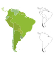 Map of south america vector image