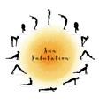 sun salutation surya namaskara vector image