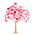 Tree pink heart vector image