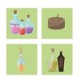set elements spa treatment vector image