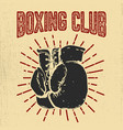 boxing club hand drawn boxing gloves on grunge vector image