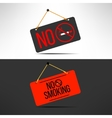 no smoking sign Cigarette forbidden board vector image