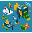 Banking Isometric Design Concept set vector image vector image