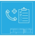 Medical consultration sign White section of icon vector image