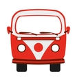 red van isolated icon design vector image