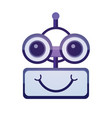 cartoon robot face smiling cute emotion chat bot vector image