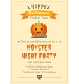 Happy Halloween backgraund vector image
