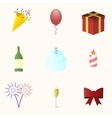Icon set for holiday season vector image