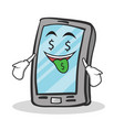 money mouth smartphone cartoon character vector image