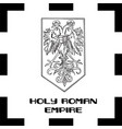 official government ensigns of foly roman empire vector image