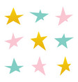 set collection of colorful asymmetrical stars vector image
