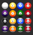 Set of pool balls vector image