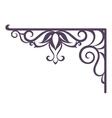 Vintage bracket for signboard silhouette vector image