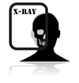 X-Ray plate vector image