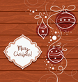 Christmas card with wooden background vector image
