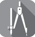 School Compasses Icon vector image vector image