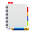 Spiral notebook vector image