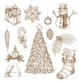 Christmas Hand Drawn Elements Set vector image