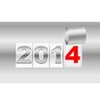 Christmas 2014 metallic background vector image vector image
