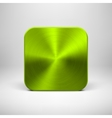Green App Icon Template with Metal Texture vector image