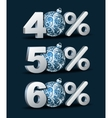 Percent discount icon vector image
